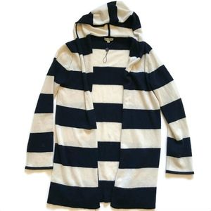 Cortland Park Cashmere Sweater Cardigan Hooded M